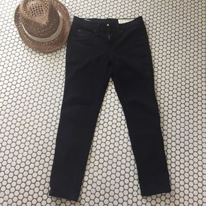 Rag & Bone Cropped Black Legging Jeans